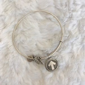 alex and ani / stand up to cancer silver bracelet
